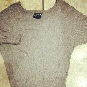 Gray sweater top